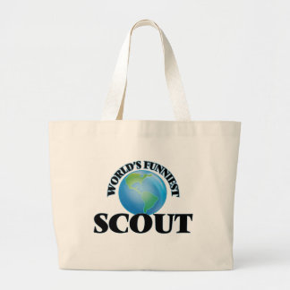 World's Funniest Scout Canvas Bag