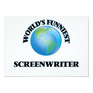 "World's Funniest Screenwriter 5"" X 7"" Invitation Card"