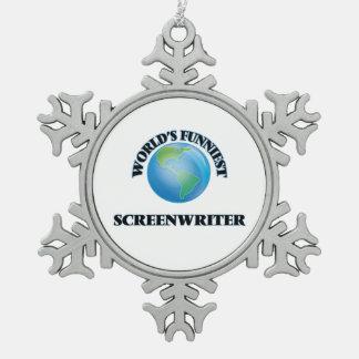 World's Funniest Screenwriter Ornament