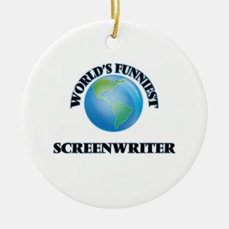 World's Funniest Screenwriter Ornaments