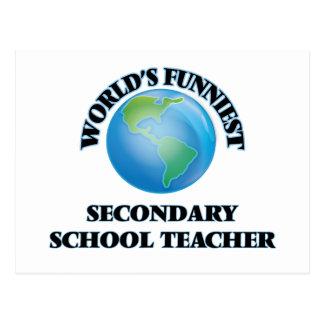 World's Funniest Secondary School Teacher Post Cards