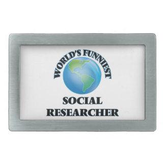 World's Funniest Social Researcher Belt Buckle