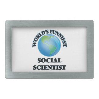 World's Funniest Social Scientist Rectangular Belt Buckles