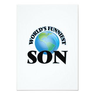 World's Funniest Son 5x7 Paper Invitation Card