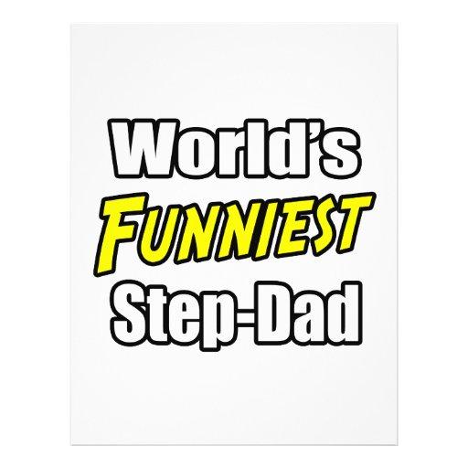 World's Funniest Step-Dad Flyer Design