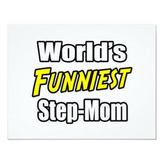 World's Funniest Step-Mom 4.25x5.5 Paper Invitation Card