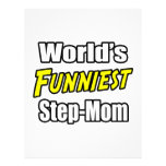 World's Funniest Step-Mom Personalized Flyer