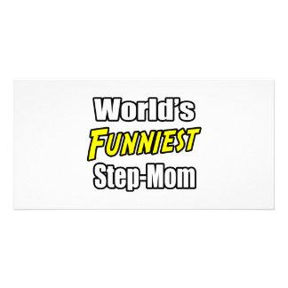 World's Funniest Step-Mom Customized Photo Card