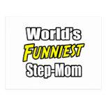 World's Funniest Step-Mom Postcard