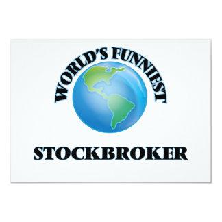 World's Funniest Stockbroker 5x7 Paper Invitation Card