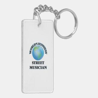 World's Funniest Street Musician Rectangular Acrylic Keychain