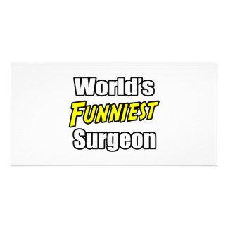World's Funniest Surgeon Custom Photo Card