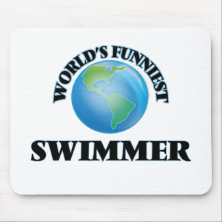 World's Funniest Swimmer Mouse Pads