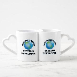 World's Funniest Systems Developer Couples' Coffee Mug Set
