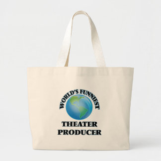 World's Funniest Theater Producer Jumbo Tote Bag