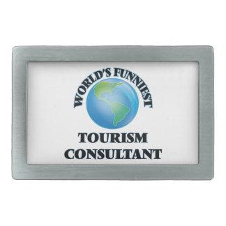 World's Funniest Tourism Consultant Rectangular Belt Buckle