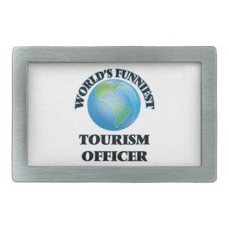 World's Funniest Tourism Officer Rectangular Belt Buckles