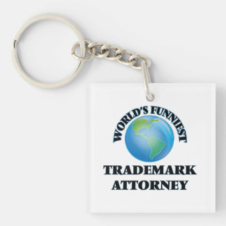 World's Funniest Trademark Attorney Square Acrylic Key Chain