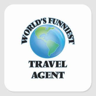 World's Funniest Travel Agent Square Stickers