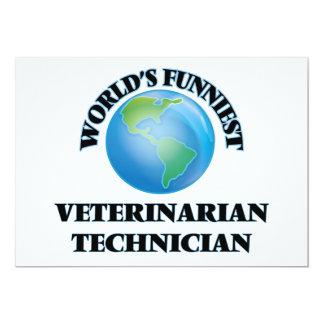 World's Funniest Veterinarian Technician 5x7 Paper Invitation Card