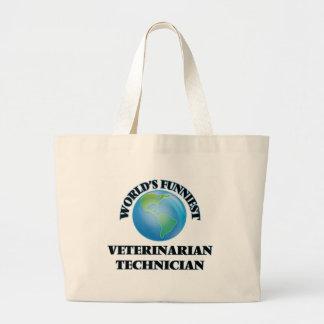World's Funniest Veterinarian Technician Jumbo Tote Bag