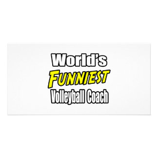 World's Funniest Volleyball Coach Custom Photo Card