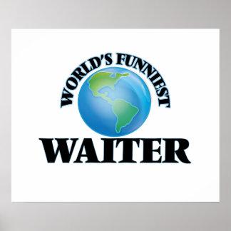 World's Funniest Waiter Poster