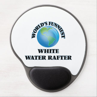 World's Funniest White Water Rafter Gel Mouse Pad