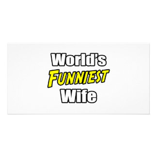 World's Funniest  Wife Photo Greeting Card