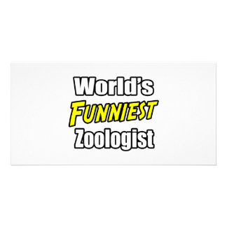 World's Funniest Zoologist Photo Card