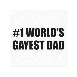 Worlds Gayest Dad Canvas Print