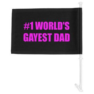 Worlds Gayest Dad Car Flag
