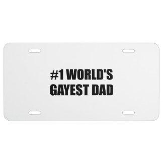 Worlds Gayest Dad License Plate