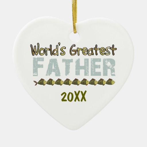 World's Greated Father 20XX Heart Ornament