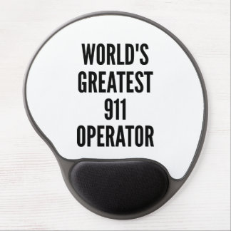 Worlds Greatest 911 Operator Gel Mouse Pad