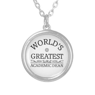 World's greatest Academic Dean Silver Plated Necklace