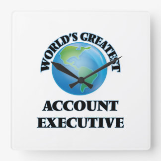 World's Greatest Account Executive Square Wallclock