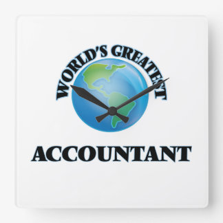 World's Greatest Accountant Square Wallclock