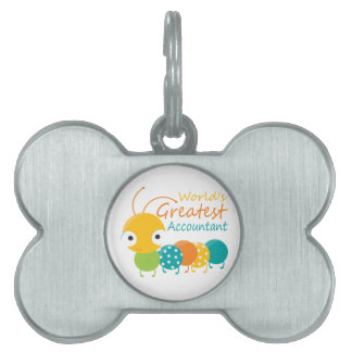 World's Greatest Accountant Pet Name Tag
