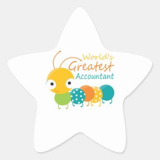World's Greatest Accountant Star Sticker