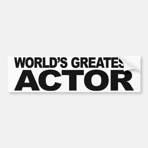 World's Greatest Actor Car Bumper Sticker