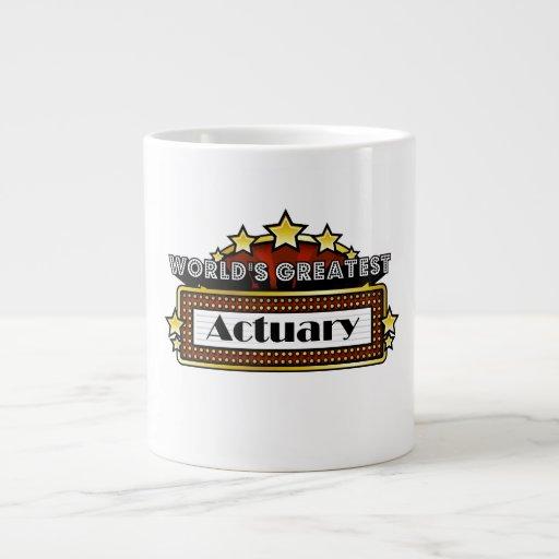 World's Greatest Actuary Jumbo Mugs