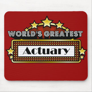 World's Greatest Actuary Mousepads