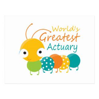 World's Greatest Actuary Postcard