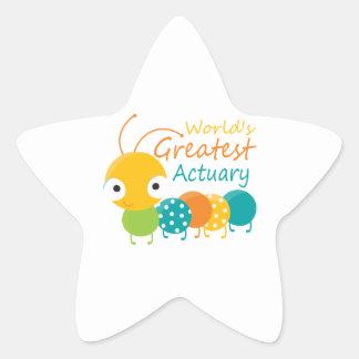 World's Greatest Actuary Star Sticker