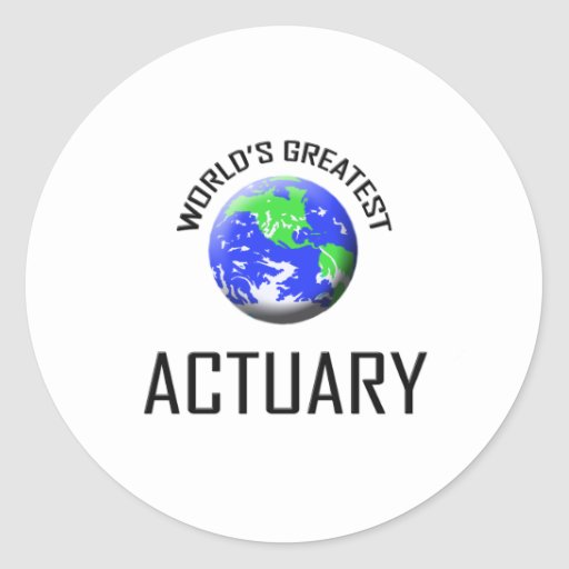 World's Greatest Actuary Stickers
