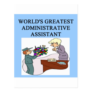 world's greatest administrative assistant postcard