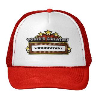 World's Greatest Administrator Hats