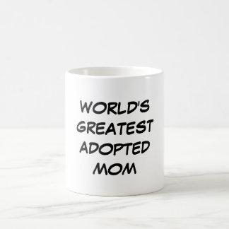"""World's Greatest Adopted Mom"" Mug"