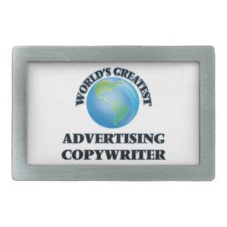 World's Greatest Advertising Copywriter Rectangular Belt Buckles